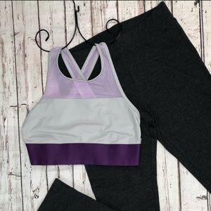Aerie Purple Color Block Sports Bra